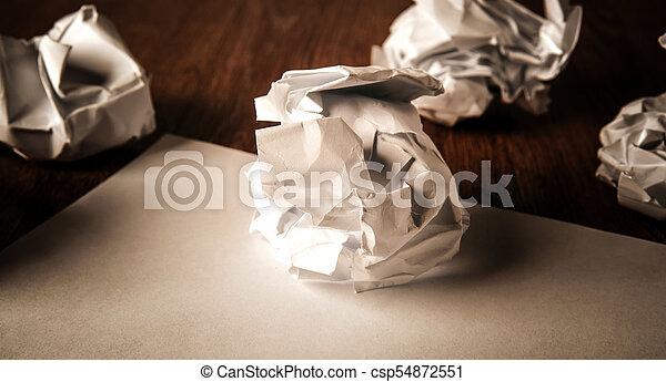 encore, table, vie, papier, chiffonné - csp54872551