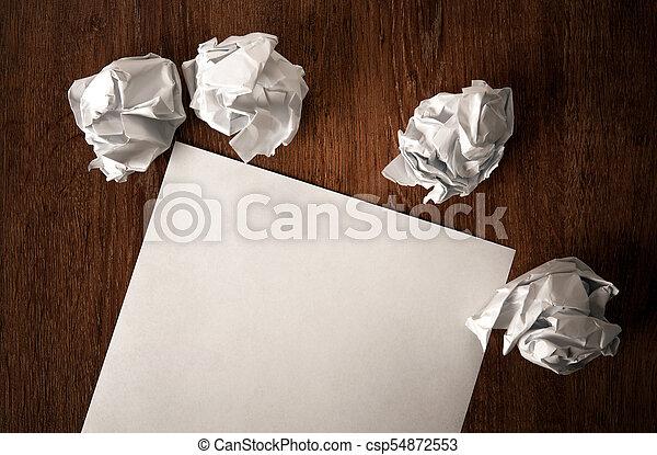 encore, table, vie, papier, chiffonné - csp54872553