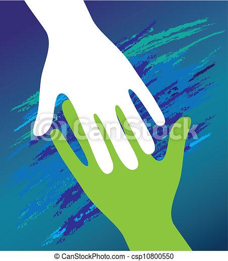 encouragement., soutien, père, main, enfant, moral. - csp10800550