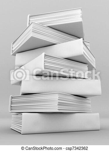 Libros vinculantes y literatura - csp7342362