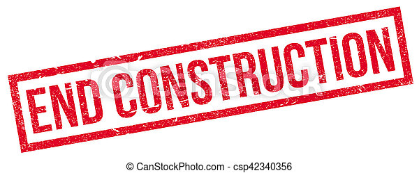 End Construction rubber stamp - csp42340356