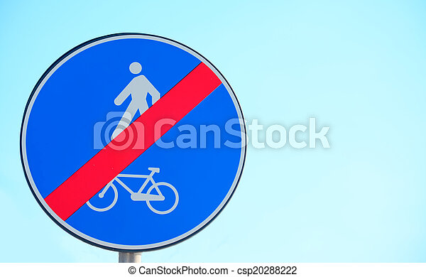 end of bike and pedestrian lane - csp20288222