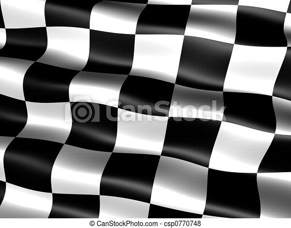 end-of-race, drapeau - csp0770748