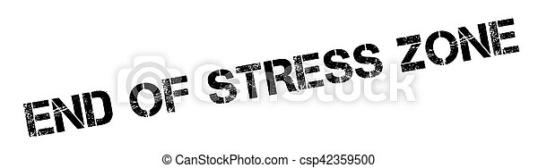 End Of Stress Zone rubber stamp - csp42359500