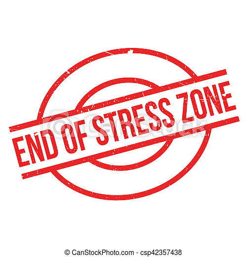 End Of Stress Zone rubber stamp - csp42357438