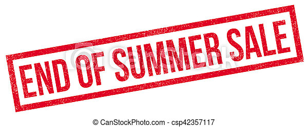 End Of Summer Sale rubber stamp - csp42357117