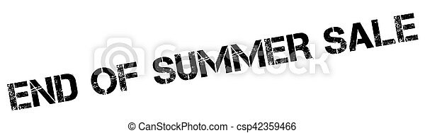 End Of Summer Sale rubber stamp - csp42359466