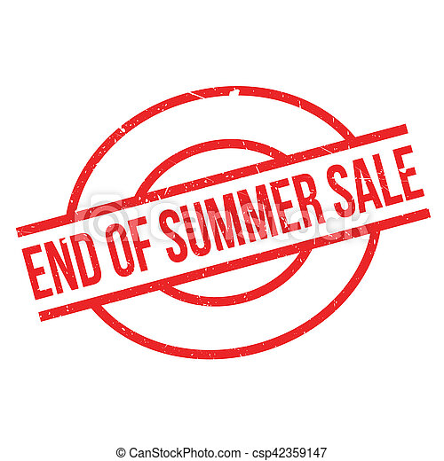 End Of Summer Sale rubber stamp - csp42359147