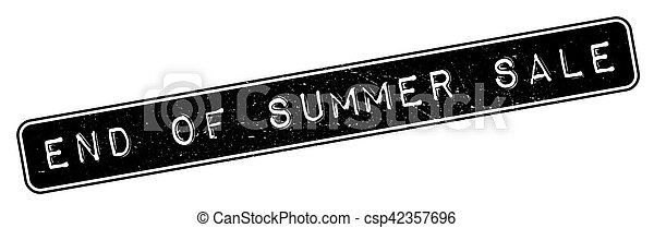 End Of Summer Sale rubber stamp - csp42357696