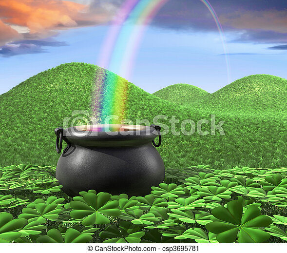 End of the Rainbow - csp3695781
