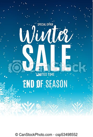 end of winter sale background discount coupon template vector