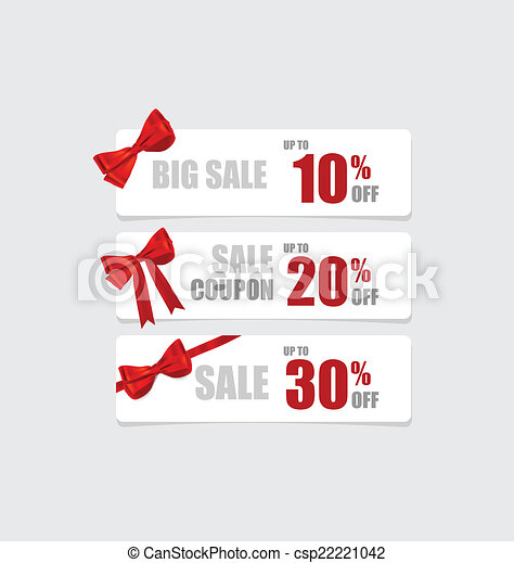 End of year sale savings labels set, price tag, sale coupon, vou - csp22221042