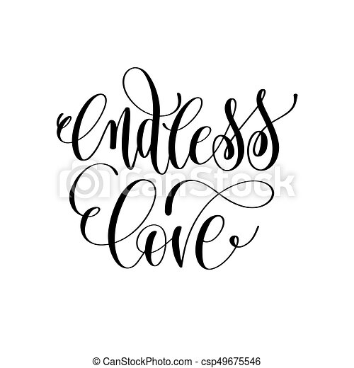 Endless Love   Hand Lettering Romantic Quote Vector