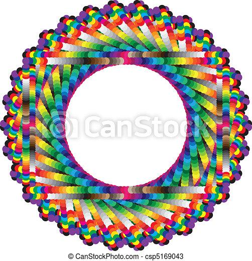 Endless vertigo, circular frame of colors - csp5169043
