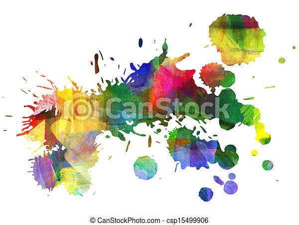 enduit, huile, résumé, stain., painting., blot., goutte - csp15499906