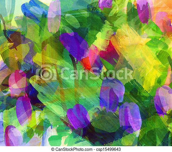 enduit, résumé, stain., guasch, freehand, painting., dessin - csp15499643