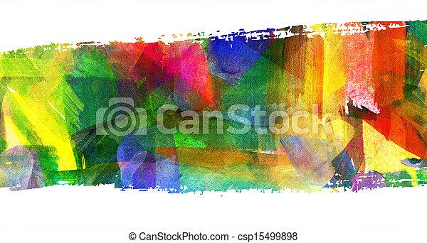 enduit, résumé, stroke., guasch, tache, painting., brosse - csp15499898