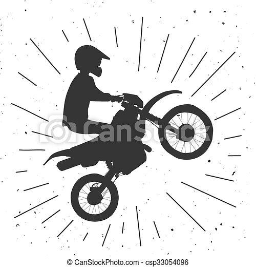 Enduro bike hand drawn illustration. - csp33054096