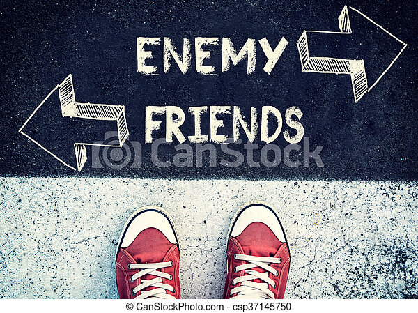 Enemy and friends - csp37145750