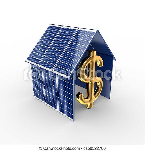 Concepto de energía solar. - csp8522706
