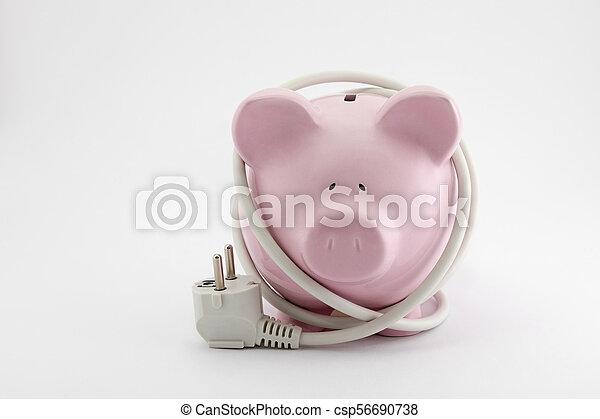 El concepto de ahorro de energía - csp56690738