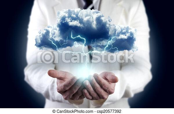 Concepto de energía, energía de medio ambiente - csp20577392