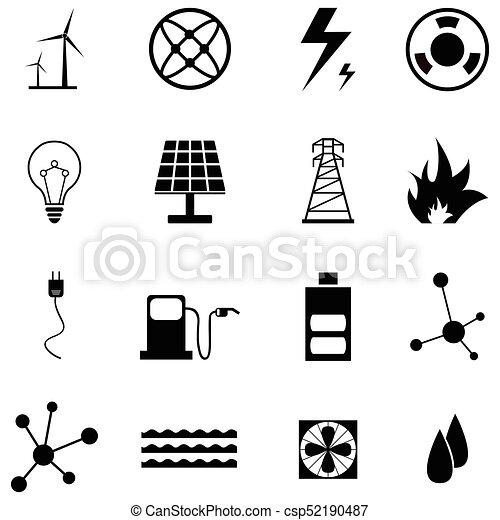 energía, conjunto, icono - csp52190487