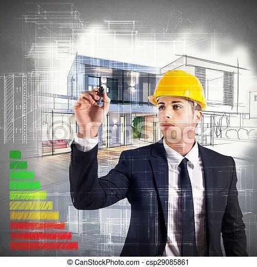 energi, arkitekt, bekräftelse - csp29085861