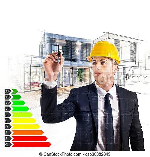energi, arkitekt, bekräftelse - csp30882843