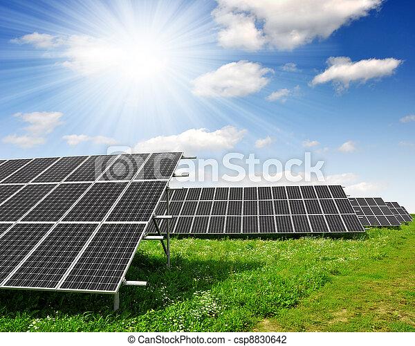 energi, paneler, sol - csp8830642