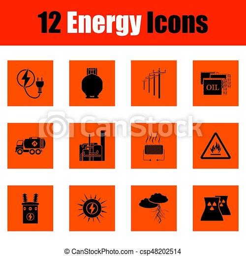 energia, állhatatos, ikon - csp48202514
