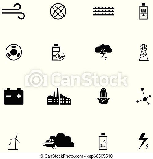 energia, állhatatos, ikon - csp66505510