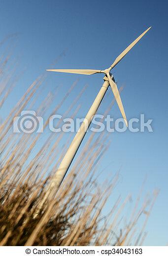 energia, -, fonte, turbina vento, rinnovabile - csp34043163