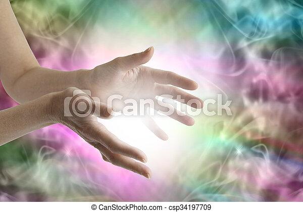 energia, irradiare, guarigione - csp34197709