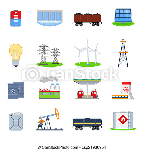 energia, jogo, ícones - csp21930954