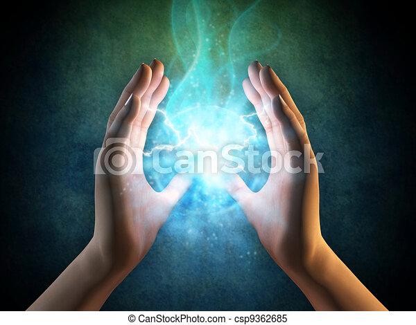 energia, mãos - csp9362685