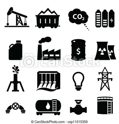 energia, olaj, állhatatos, ikon - csp11015359