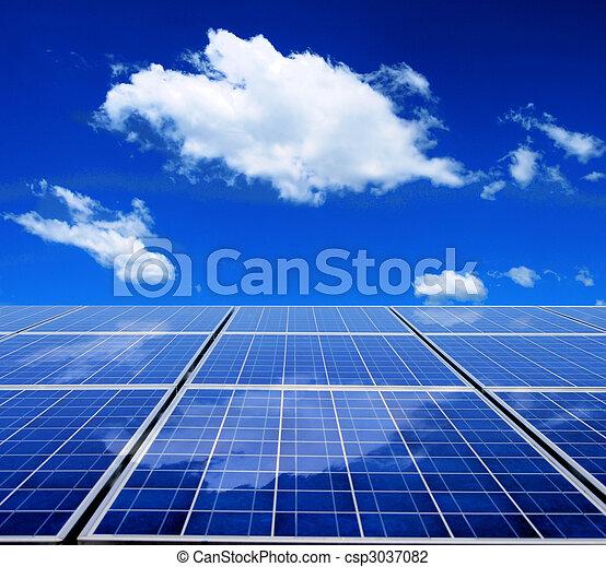 energia, painel solar - csp3037082