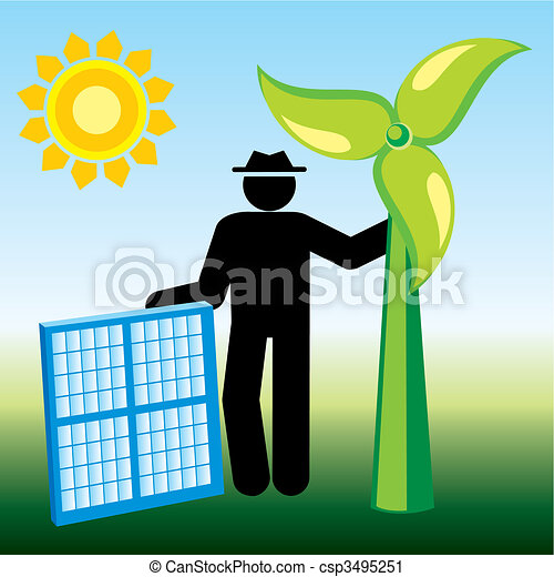 energia, renovável - csp3495251