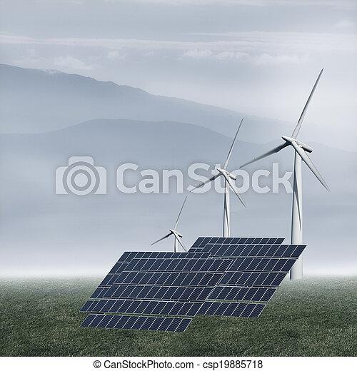 energia, renovável - csp19885718
