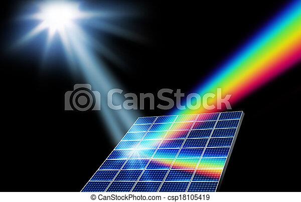 energie, begriff, sonnenkollektoren, erneuerbar - csp18105419