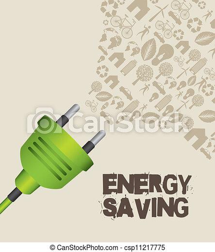 energie, besparing - csp11217775