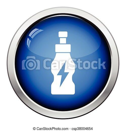 Energie, getränke füllen, ikone. Illustration., taste,... Clipart ...