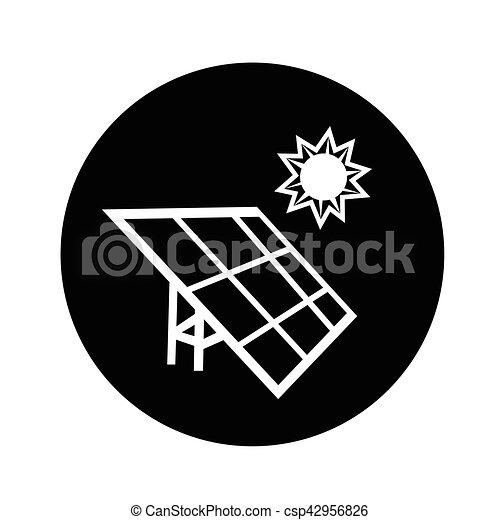 energie, illustratie, ontwerp, zonnepaneel, pictogram - csp42956826