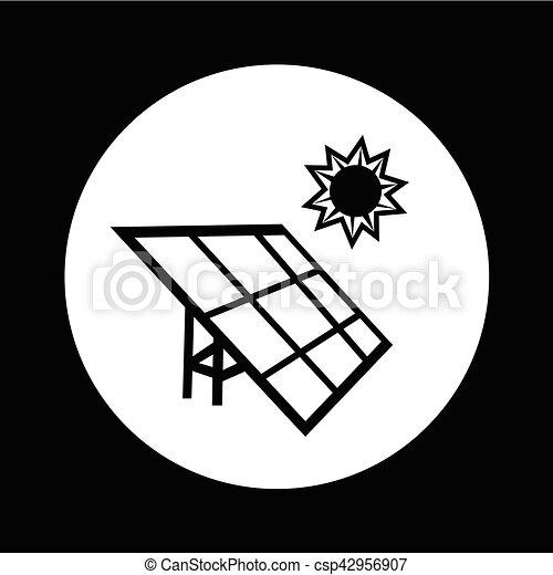 energie, illustratie, ontwerp, zonnepaneel, pictogram - csp42956907