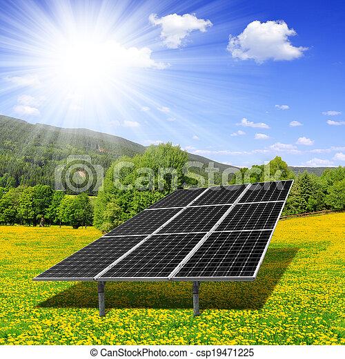 energie, panelen, zonne - csp19471225