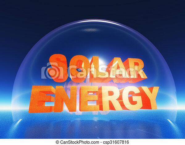 energie, sonnenkollektoren - csp31607816