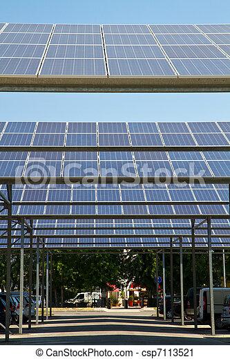 energie, sonnenkollektoren - csp7113521