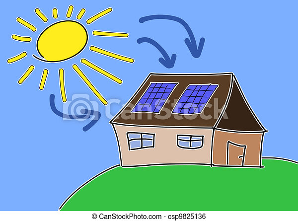 energie, sonnenkollektoren - csp9825136