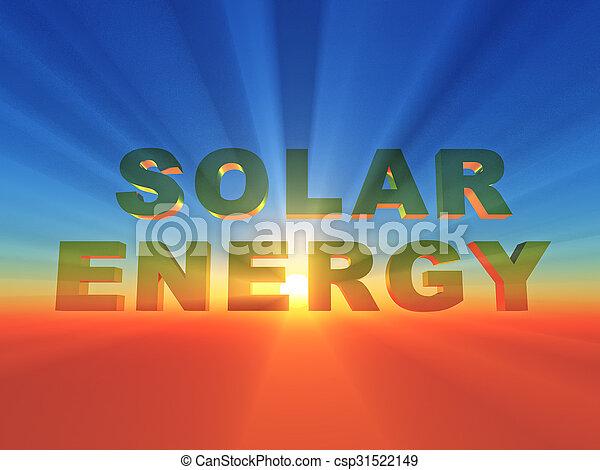 Sonnenenergie - csp31522149